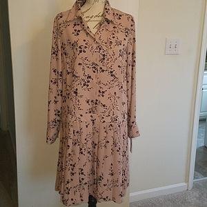 Nanette lepore blish pink and black dress